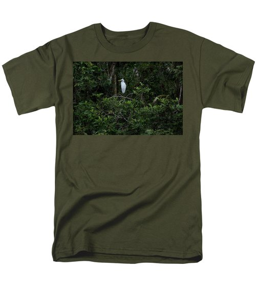 Resting Egret Men's T-Shirt  (Regular Fit) by James David Phenicie