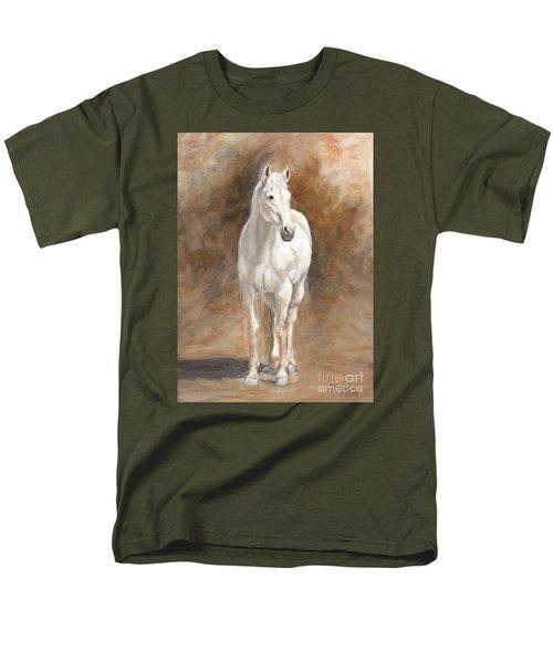 Retired Thoroughbred Race Horse Rustic Men's T-Shirt  (Regular Fit)