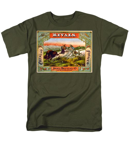 Men's T-Shirt  (Regular Fit) featuring the photograph Retro Tobacco Label 1872 D by Padre Art