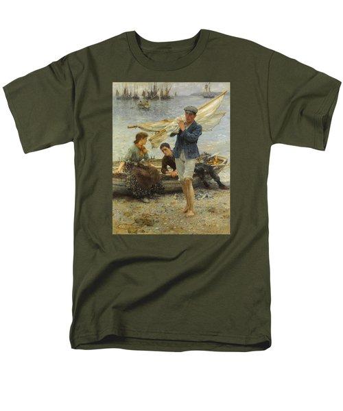 Return From Fishing Men's T-Shirt  (Regular Fit) by Henry Scott Tuke