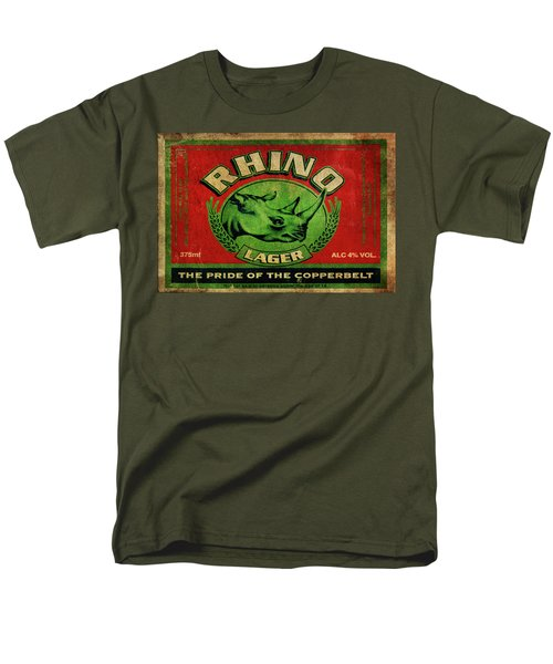 Men's T-Shirt  (Regular Fit) featuring the digital art Rhino Lager by Greg Sharpe