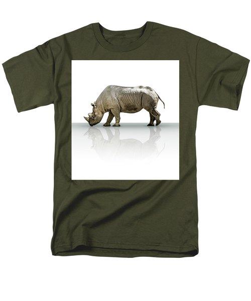 Rhinoceros Men's T-Shirt  (Regular Fit) by James Larkin