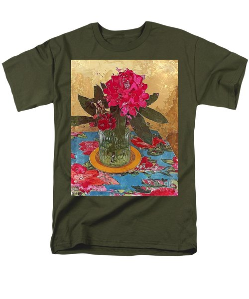 Rhododendron Men's T-Shirt  (Regular Fit) by Alexis Rotella