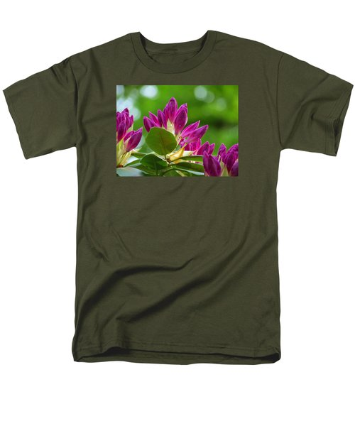 Rhododendron Buds Men's T-Shirt  (Regular Fit) by MTBobbins Photography