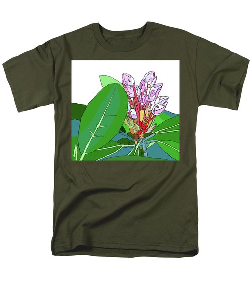 Rhododendron Graphic Men's T-Shirt  (Regular Fit) by Jamie Downs