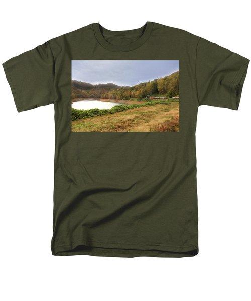 Men's T-Shirt  (Regular Fit) featuring the digital art Riding The Rails by Sharon Batdorf