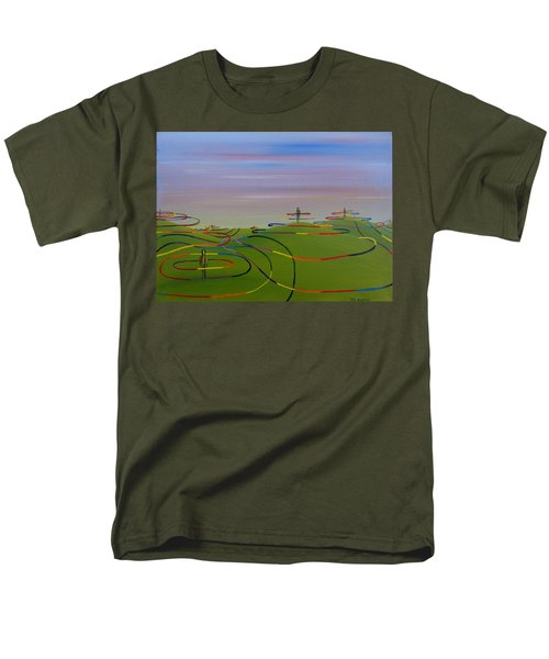 Men's T-Shirt  (Regular Fit) featuring the painting Ripples Of Life 1.2 by Tim Mullaney