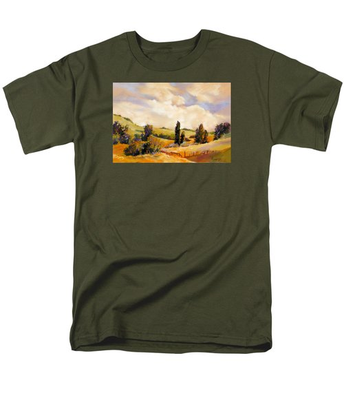 Men's T-Shirt  (Regular Fit) featuring the painting Rising Heat by Rae Andrews