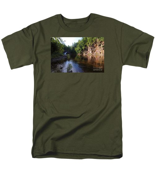 Men's T-Shirt  (Regular Fit) featuring the photograph River Reflections by Sandra Updyke
