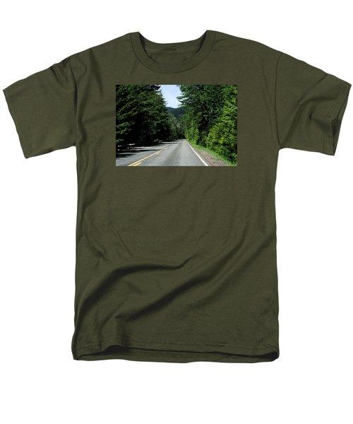 Road Among The Trees Men's T-Shirt  (Regular Fit) by John Rossman