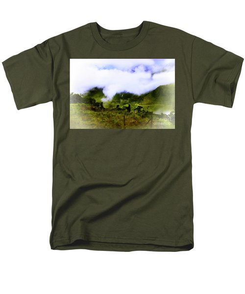 Men's T-Shirt  (Regular Fit) featuring the photograph Road Through The Andes by Al Bourassa
