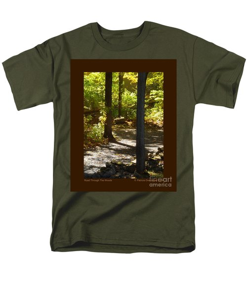 Road Through The Woods Men's T-Shirt  (Regular Fit) by Patricia Overmoyer