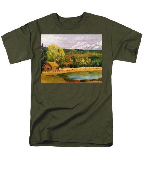 Road To Kintla Lake Men's T-Shirt  (Regular Fit) by Larry Hamilton