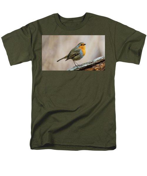 Robin In Spring Men's T-Shirt  (Regular Fit) by Torbjorn Swenelius