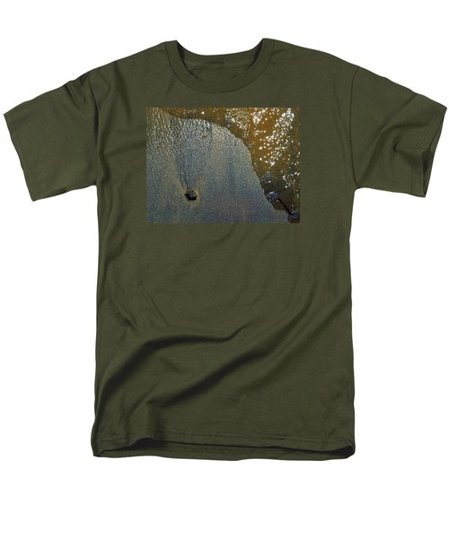 Men's T-Shirt  (Regular Fit) featuring the photograph Rock Sand Water Sun 2  by Lyle Crump