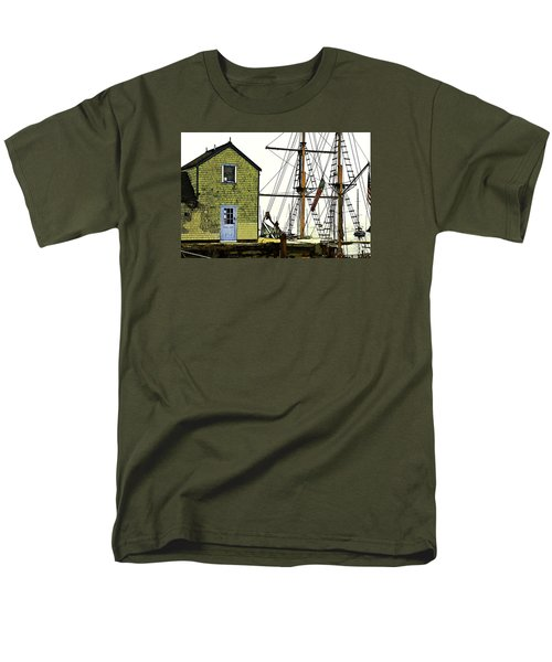 Men's T-Shirt  (Regular Fit) featuring the photograph Rockport Harbor by Tom Cameron