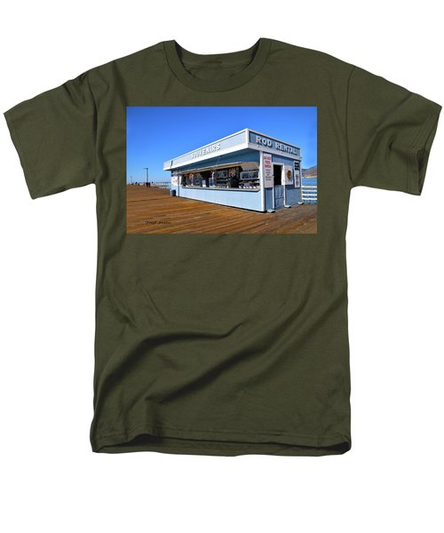 Men's T-Shirt  (Regular Fit) featuring the photograph Rod Rental At The Pismo Beach Pier by Floyd Snyder