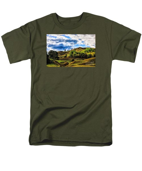 Men's T-Shirt  (Regular Fit) featuring the photograph Rolling Hills by Rick Bragan