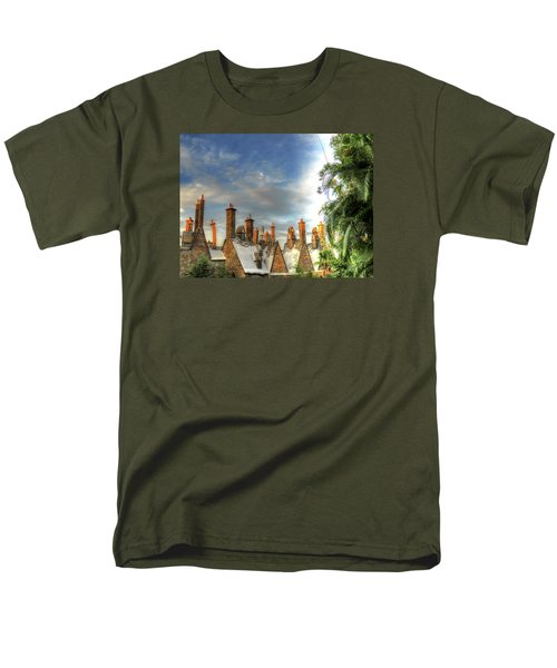 Men's T-Shirt  (Regular Fit) featuring the photograph rooftops Hogsmeade by Tom Prendergast