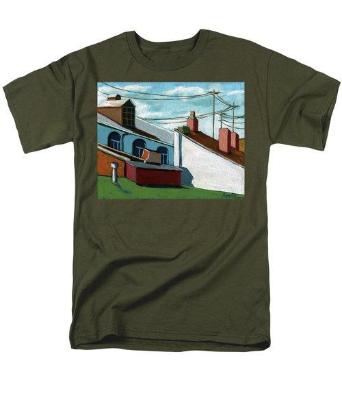 Rooftops Men's T-Shirt  (Regular Fit)