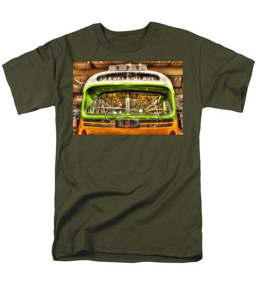 Rosa Parks Bus Dearborn Mi Men's T-Shirt  (Regular Fit) by Nicholas  Grunas