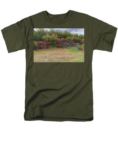 Rose Garden Men's T-Shirt  (Regular Fit) by Elaine Teague