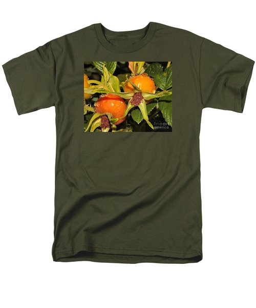 Men's T-Shirt  (Regular Fit) featuring the photograph Rose Hips by Debbie Stahre