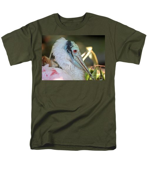 Roseate Spoonbill Profile Men's T-Shirt  (Regular Fit) by Carol Groenen
