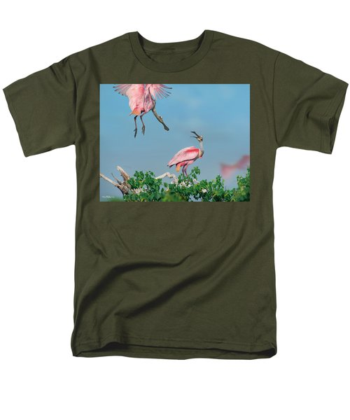 Roseate Spoonbills Men's T-Shirt  (Regular Fit) by Tim Fitzharris