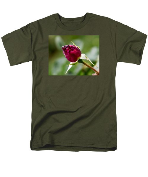 Men's T-Shirt  (Regular Fit) featuring the photograph Rosebud by Cathy Donohoue