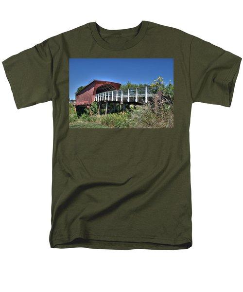Men's T-Shirt  (Regular Fit) featuring the photograph Roseman Bridge No. 5 by Janice Adomeit