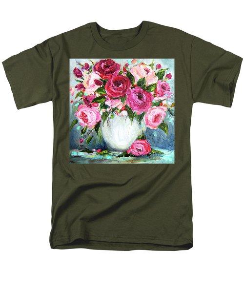 Roses In Vase Men's T-Shirt  (Regular Fit) by Jennifer Beaudet