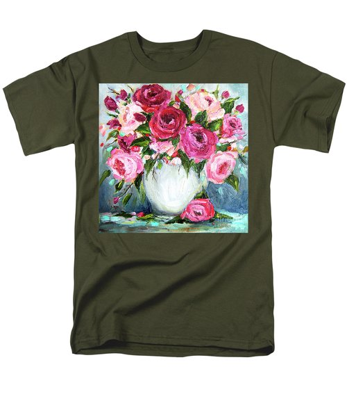 Roses In Vase Men's T-Shirt  (Regular Fit)