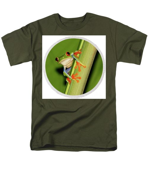 Men's T-Shirt  (Regular Fit) featuring the photograph Round Towel Frog by Myrna Bradshaw