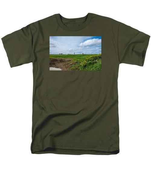 Round Tower Portrane Men's T-Shirt  (Regular Fit) by Martina Fagan