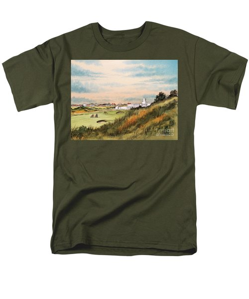 Royal Birkdale Golf Course 18th Hole Men's T-Shirt  (Regular Fit) by Bill Holkham
