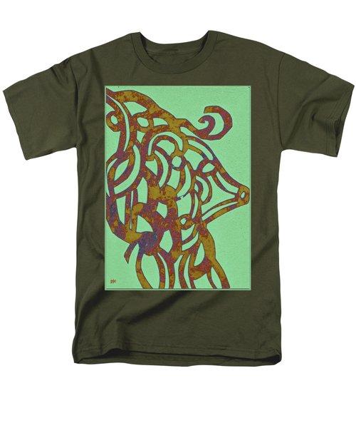 Royal Sheep Cut Out Men's T-Shirt  (Regular Fit)