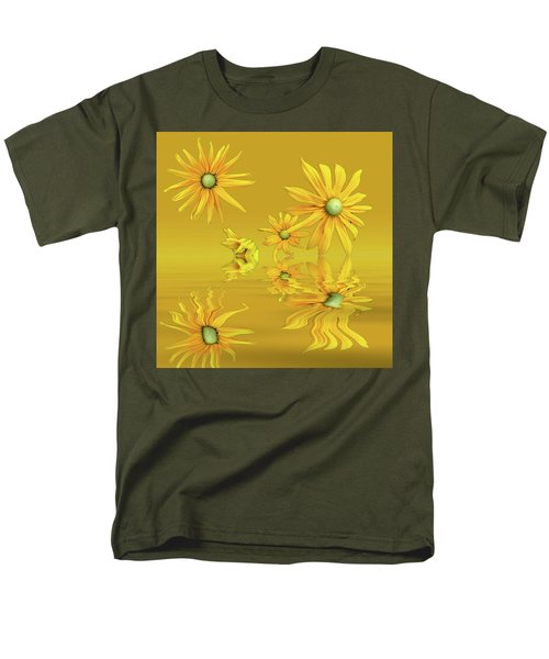 Men's T-Shirt  (Regular Fit) featuring the photograph Rudbekia Yellow Flowers by David French