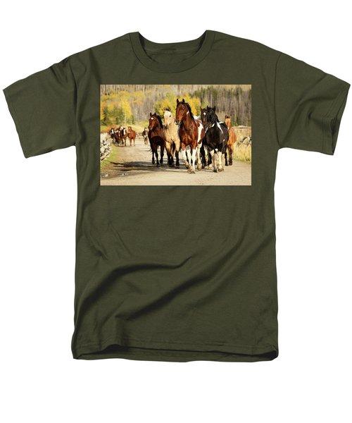 Men's T-Shirt  (Regular Fit) featuring the photograph Run Out by Sharon Jones