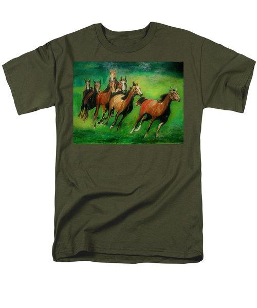 Running Free Men's T-Shirt  (Regular Fit) by Khalid Saeed