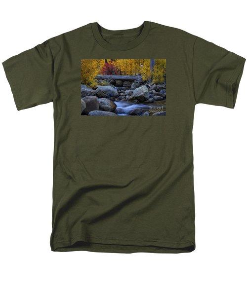 Rushing Into Autumn Men's T-Shirt  (Regular Fit) by Mitch Shindelbower