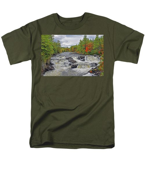 Men's T-Shirt  (Regular Fit) featuring the photograph Rushing Towards Fall by Glenn Gordon