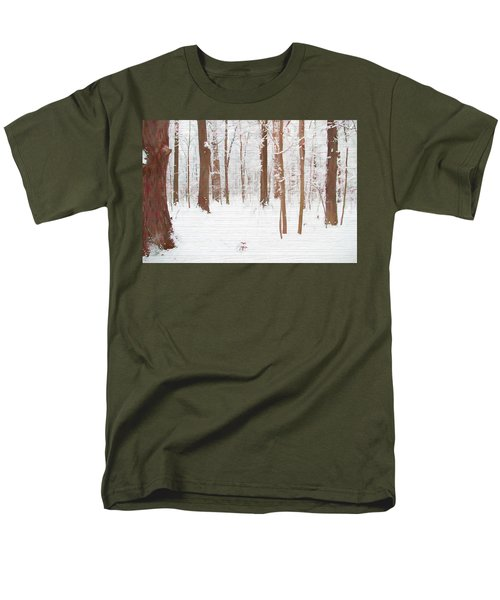 Rustic Winter Forest Men's T-Shirt  (Regular Fit) by Dan Sproul