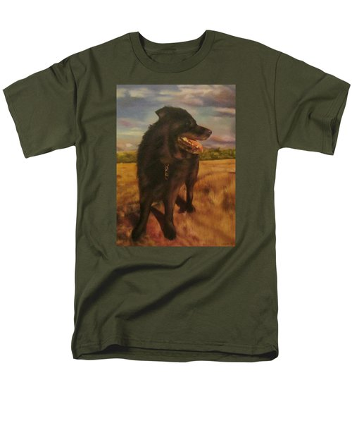 Men's T-Shirt  (Regular Fit) featuring the painting Ruudi by Cherise Foster