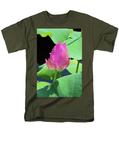Sacred Pink Men's T-Shirt  (Regular Fit) by Inspirational Photo Creations Audrey Woods