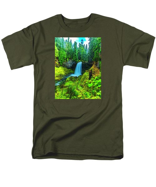 Koosa Falls, Oregon Men's T-Shirt  (Regular Fit) by Nancy Marie Ricketts