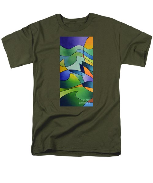 Sailing Away, Canvas One Men's T-Shirt  (Regular Fit) by Sally Trace