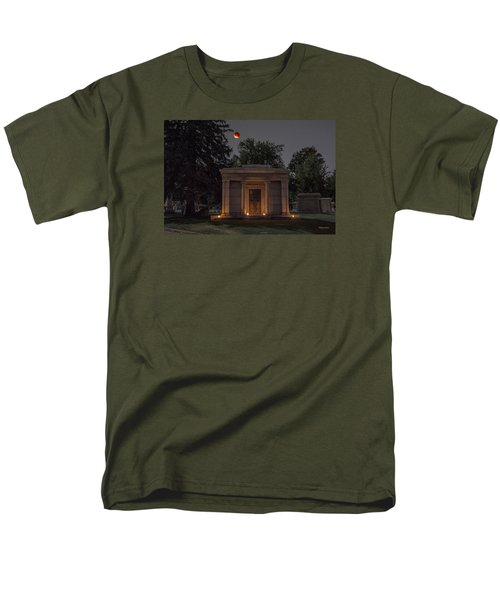 Samuel D. Nicholson Mausoleum Under The Blood Moon Men's T-Shirt  (Regular Fit) by Stephen  Johnson