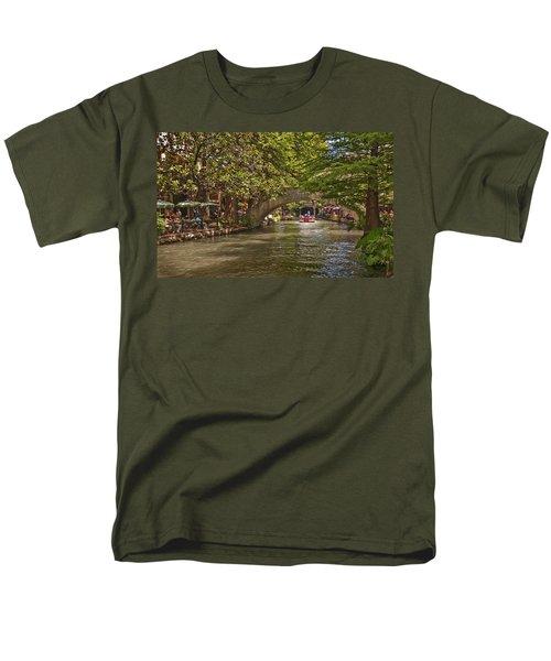 San Antonio Riverwalk Men's T-Shirt  (Regular Fit) by Steven Sparks