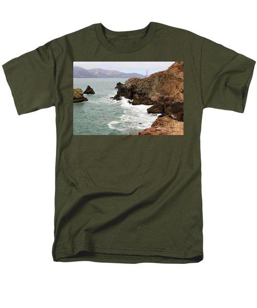 San Francisco Lands End Men's T-Shirt  (Regular Fit) by Cheryl Del Toro